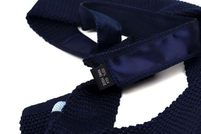 Navy Silk Knitted Tie
