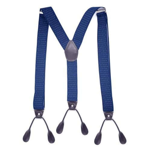 Mens Trouser Braces/Suspenders - Navy