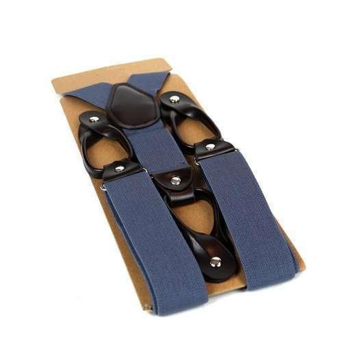 Mens Trouser Braces/Suspenders - Pale Blue