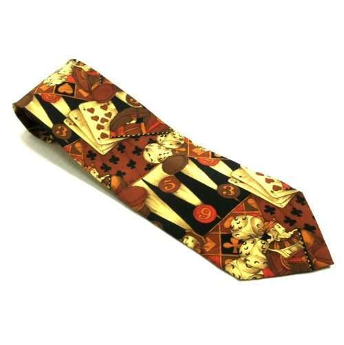 YVES SAINT LAURENT PLAYING CARDS VINTAGE TIE